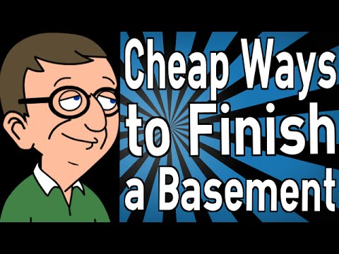 Cheap ways to finish a basement youtube for Ways to finish a ceiling