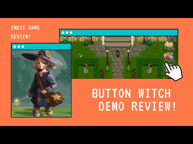 1 min Game Review: The Button Witch - Demo Review Edition -