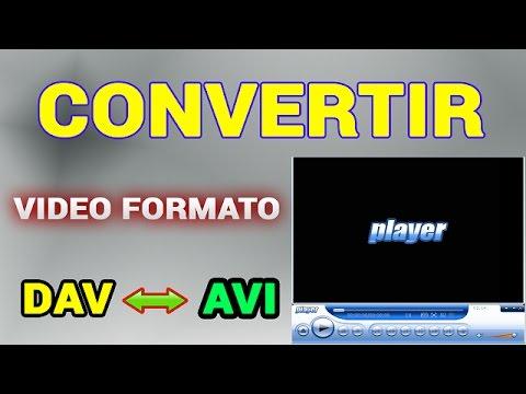 CONVERTIR VÍDEO FORMATO DAV A AVI, MP4, H264