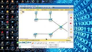cara membuat topologi hybrid di cisco packet tracer