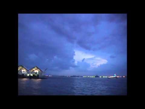 new york harbor at night