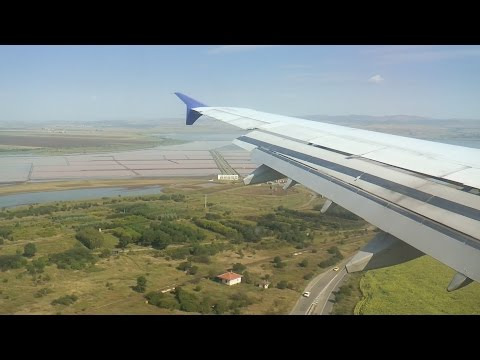 SAS A321 Beautiful Landing at Burgas Airport, Bulgaria!