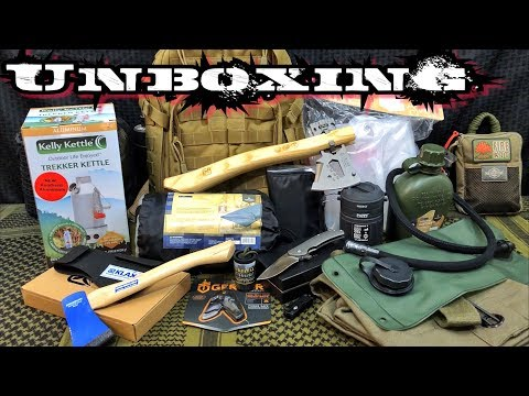 Unboxing Camping & Survival Gear | Battlbox , Survival Boxes, & Monthly Knife Club