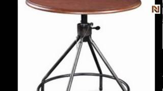 High Rise Round Adjustable Height Dining Table By Bassett Mirror-d2042_700chbt