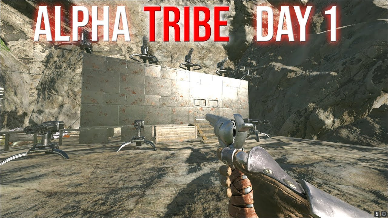 BECOMING THE ALPHA TRIBE DAY 1 - ARK VALGUERO 3-MAN PVP SERVERS #2