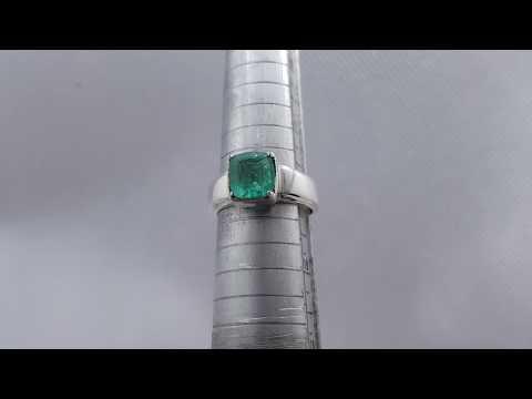 Unheated beautiful Vivid green Emerald cut Emerald ring - Afghanistan emerald ring