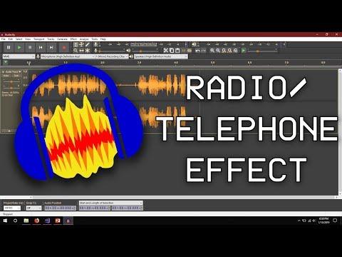 Create a Radio/Telephone effect in Audacity