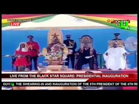 Alassane Ouattara Delivers Speech At Nana Addo's Swearing In