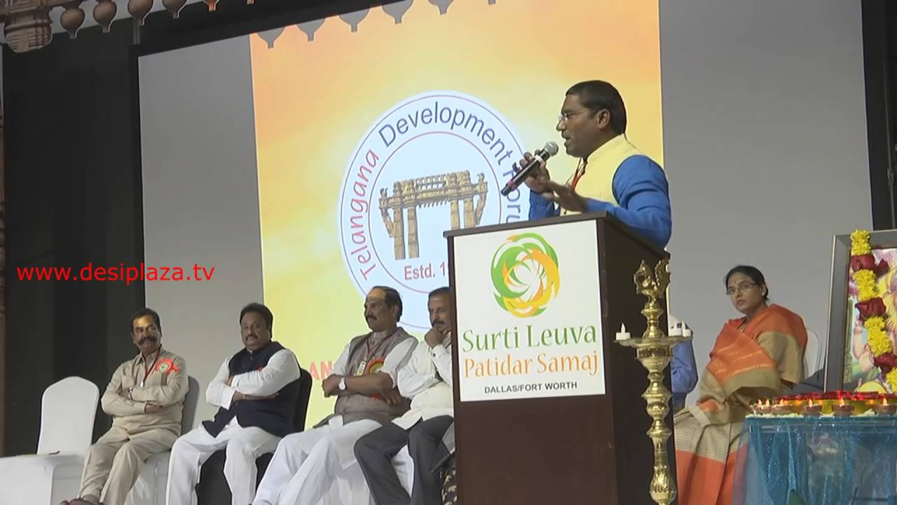 Mr.Sampath congress MLA from Alampur speaking at TDF 1st Global Telangana Convention in Dallas,