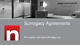 Surrogacy Agreements