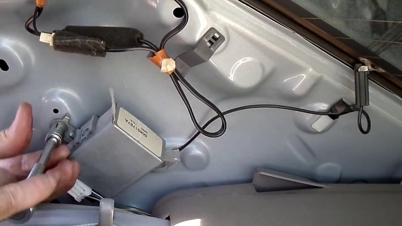 Toyota Corolla Rke Module Removal Youtube
