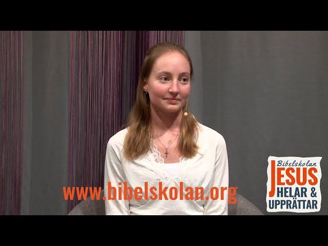 Jennifers vittnesbörd från Bibelskolan Jesus Helar och Upprättar: Stipendiatåret