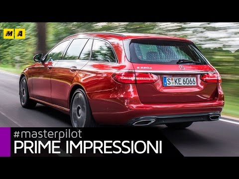 Mercedes Classe E SW 220 CDI (new 194 cv, 1.950 cc diesel) | Primo test [ENGLISH SUB]