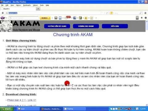 Hướng dẫn cách cài đặt chương trình Akam