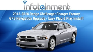 2015-2016 Dodge Challenger Charger Factory GPS Navigation Upgrade - Easy Plug & Play Install!