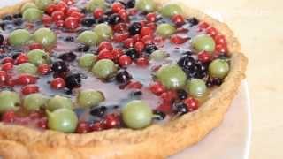 Песочный пирог с творогом и ягодами. Рецепт без яиц
