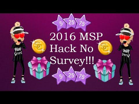 2016 MSP Hack NO SURVEY!! *PATCHED!!*