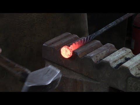 Blacksmithing: Welded Basket twist, Old school project