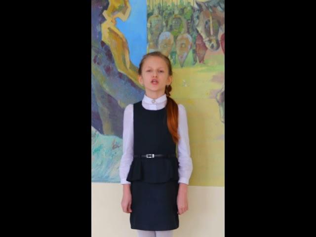 Изображение предпросмотра прочтения – АнастасияМельникова читает произведение «Гой ты, Русь, моя родная!..» С.А.Есенина