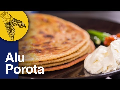 Aloo Paratha Recipe | Dhaba Style Punjabi Aloo Paratha | Potato Stuffed Indian Flatbread