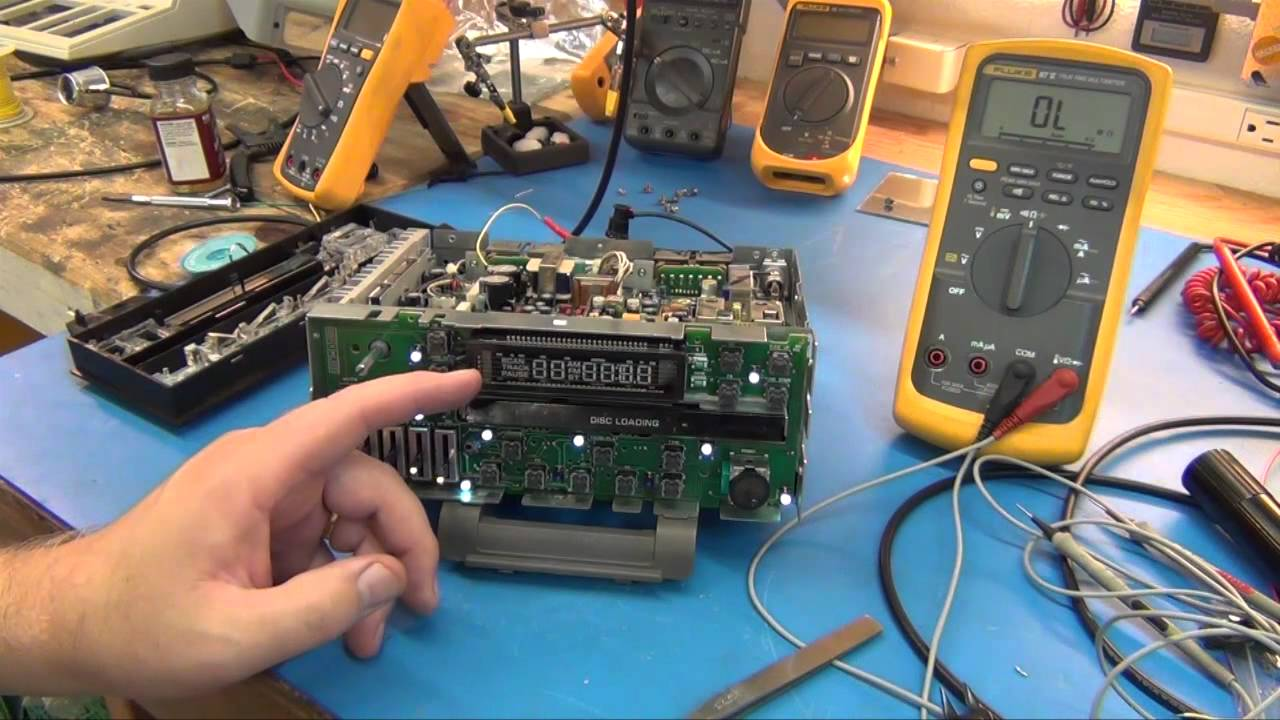 Radio Repair Bad Vacuum Fluorescent Display Vfd Youtube