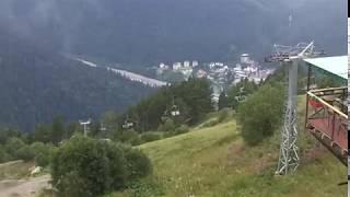 Что видно из окна на высоте 2277 метров (Домбай)