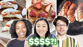 $2 vs. $10 vs. $100 Breakfast Budget Challenge  Tasty