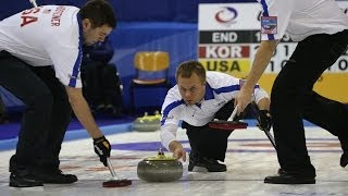 CURLING: CZE-USA Olympic Qual 2013 - Men  Loser (1v2) v 3