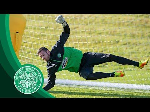 Celtic FC - Goalkeeper training with Craig Gordon, Dorus de Vries and Colin McCabe