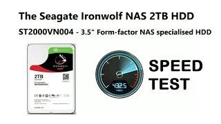 Seagate 2TB Ironwolf BlackMagic Speed Test - ST2000VN004