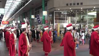 Mehter Okayamada (Japonya) 岡山表町商店街メフテルバンドパレード