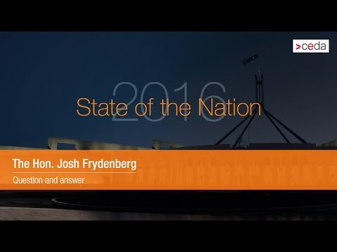 Question and answer with the Hon. Josh Frydenberg - State of the Nation 2016
