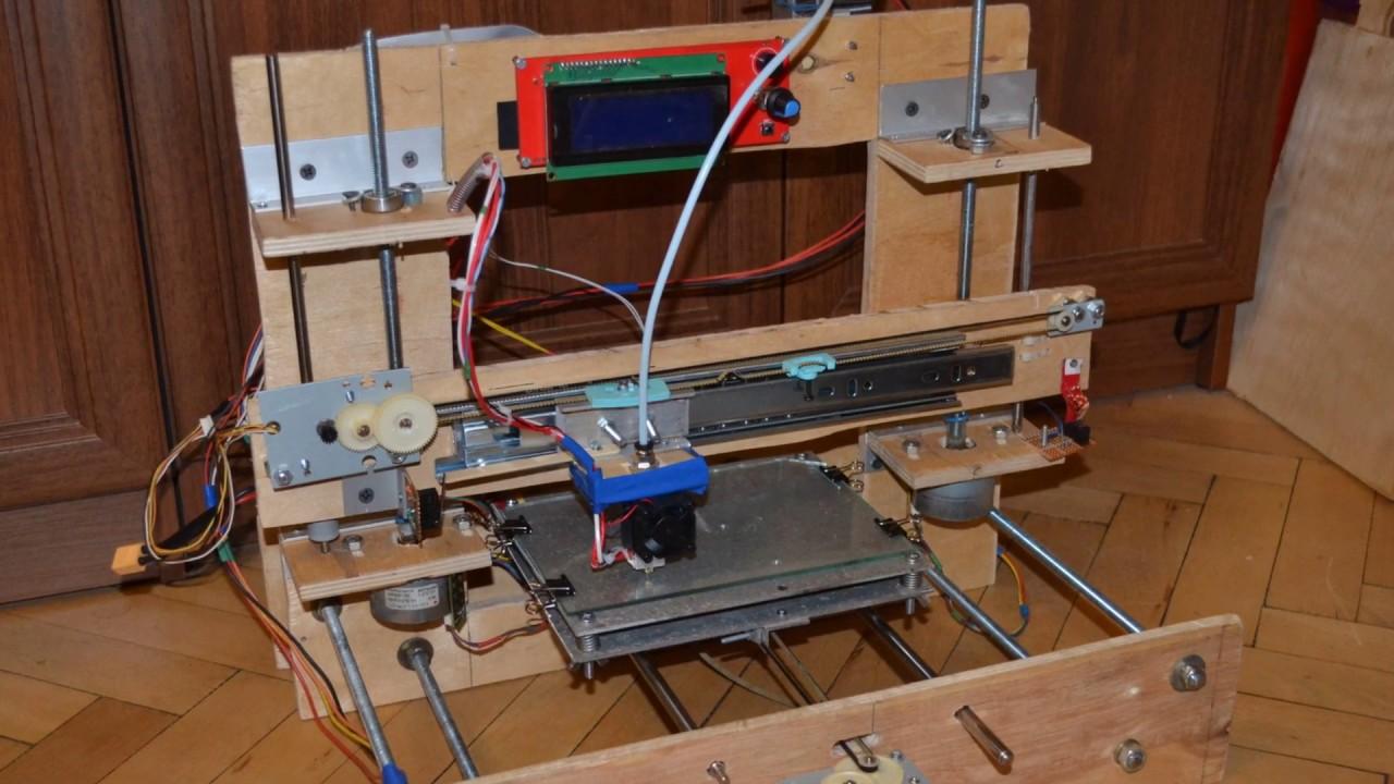 3d принтер своими руками сделанный из фанеры и хлама