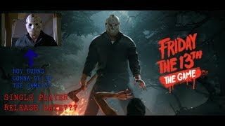Friday the 13th The Game - Single Player Release Date and Roy Burns In the Game???