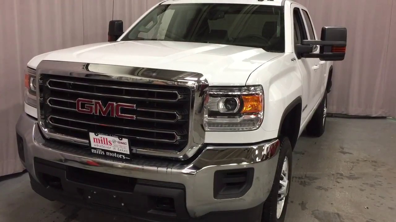 2017 gmc sierra 2500hd sle 4wd double cab snow plow prep white oshwa on stock 170455 youtube. Black Bedroom Furniture Sets. Home Design Ideas