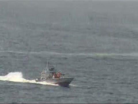 Raw: Video Shows Iranian Boats Near US Ship