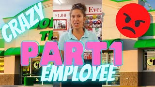 DOLLAR TREE EMPLOYEE COMPLETEY LOSES IT WITH A CUSTOMER SHE FLEW OFF HER ROCKER OVER BUBBLES