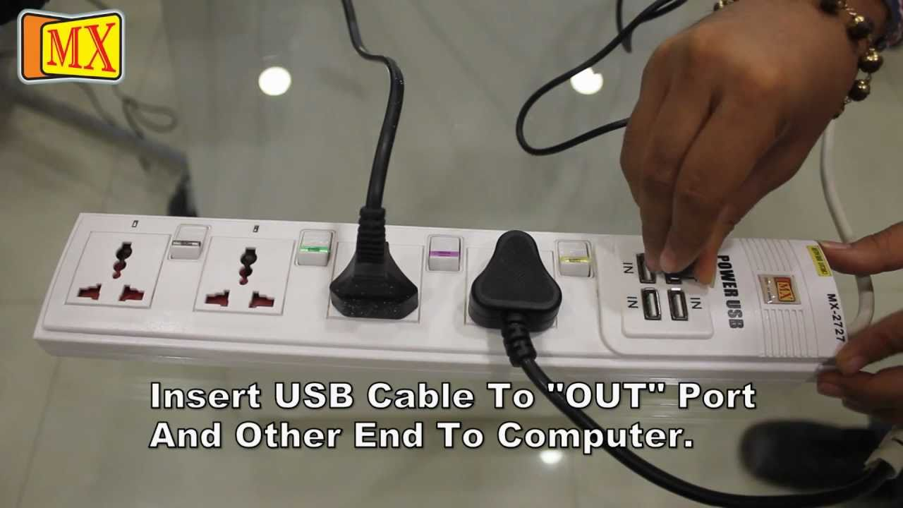 4 Way Fuse Box Surge Protector With Usb Hub And Power Extension Cable