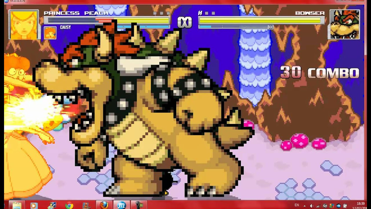 Download Mugen Peach and Daisy vs Bowser