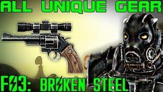 Fallout 3: Broken Steel - Unique Armor & Weapons Guide (DLC)