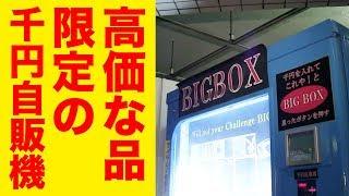 高額景品が出る謎の自販機で何がでるか試してみた