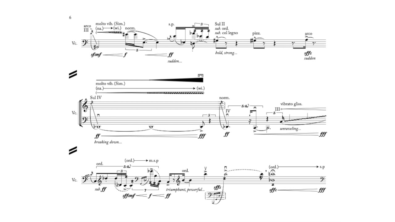 "Nick Virzi: ""Gravity"" for Solo Cello (2014) 