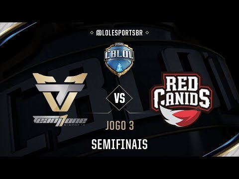 Team oNe x Red Canids (Jogo 3 - Semifinal) - CBLoL 2017