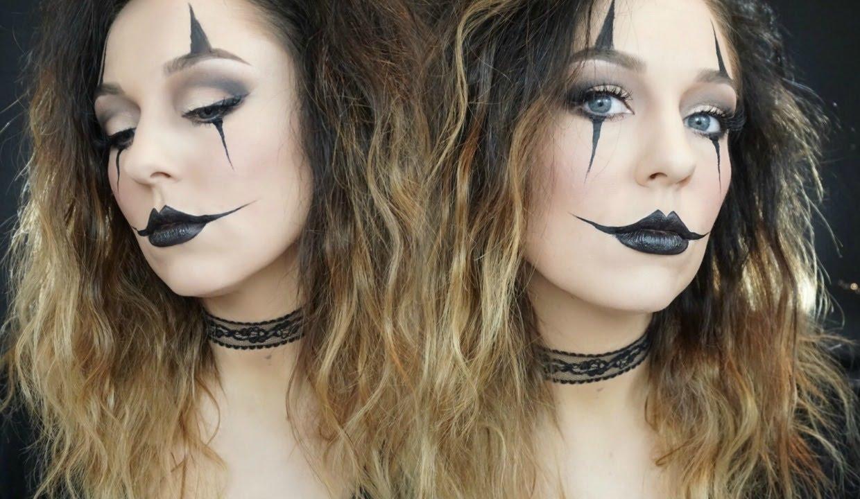 Halloween Makeup Easy Clown.E6 Easy Jester Clown Halloween Makeup Tutorial