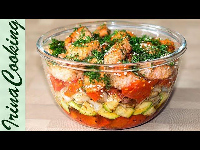 Салат ФИЛИППИНЫ с красной рыбой 🐟 Салат с Овощами и Семгой Salad with Red Fish ✧ Ирина Кукинг