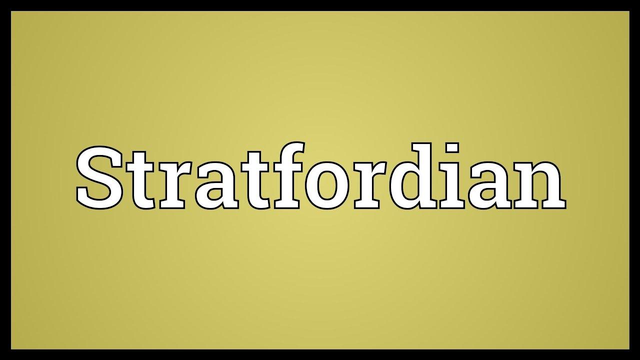 stratfordian