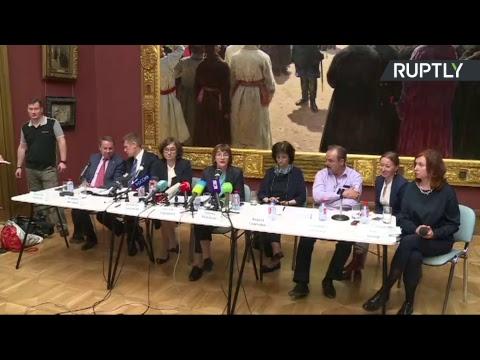 В Третьяковской галерее проходит брифинг о нападении на картину Репина «Иван Грозный и сын его Иван»