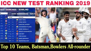 ICC Announce New Test Ranking || Top 10 Teams, Batsman, Bowlers & All-Rounder ||