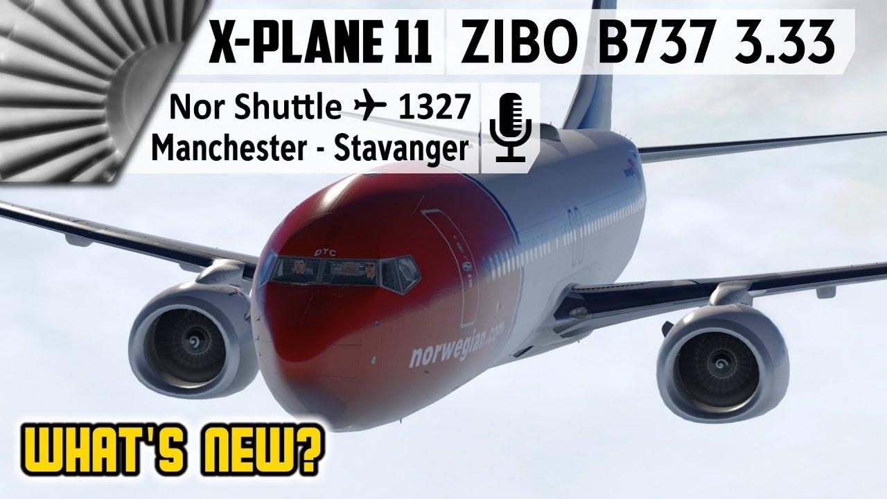 ZIBO B737-800X v3 33 | What's New? | EGCC to ENZV [X-Plane 11]