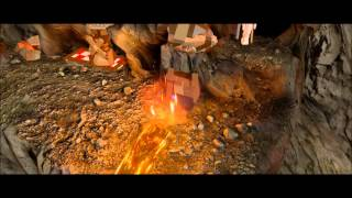 Mount Doom - 10 Minikits, 3 Treasures, Red Brick 8 bit music, Mithril Climbing Boots - Lego LOTR